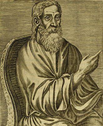 Clement from Les vrais pourtraits et vies des hommes illustres grecz, latins et payens (1584) by André Thévet
