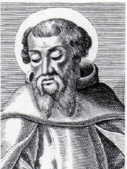 An engraving of St Irenaeus, Bishop of Lugdunum in Gaul (now Lyons, France)