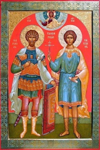 Icon of Saint Marcellus located in the Russian Orthodox Church of the Resurrection, Rabat