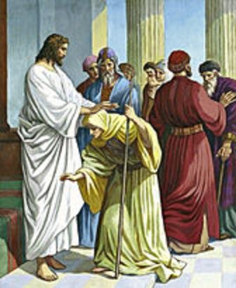 JESUS HEALING WOMEN - CRIPPING