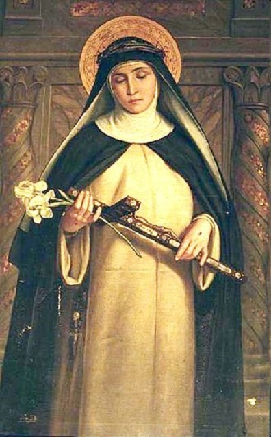 St. Catherine of Siena, by anonymous painter, 19th century