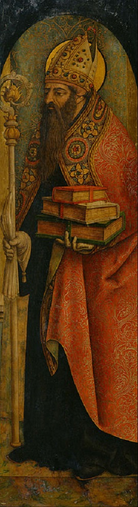 St. Augustine by Carlo Crivelli.