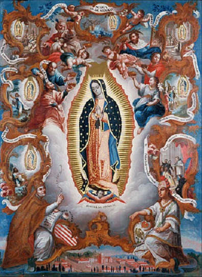 A depiction of Virgin of Guadalupe, from 1779, Mexico