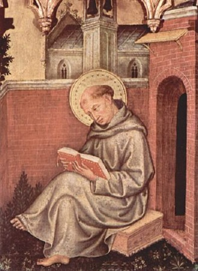 Detail from Valle Romita Polyptych by Gentile da Fabriano (circa 1400)