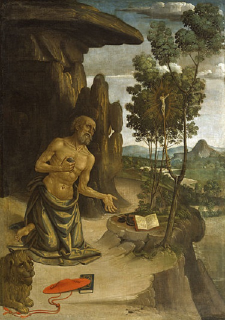 Saint Jerome in the Wilderness by Bernardino Pinturicchio