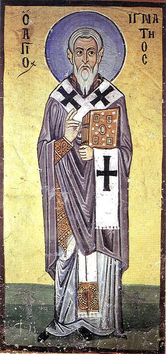 Fresco of St. Ignatius from Hosios Loukas Monastery, Boeotia, Greece