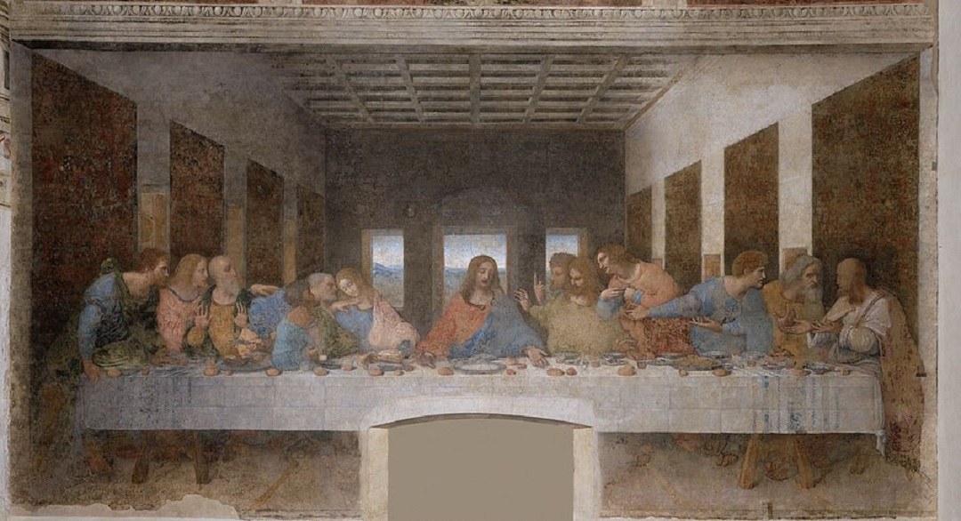 Depictions of the Last Supper in Christian art have been undertaken by artistic masters for centuries, Leonardo da Vinci's late 1490s mural painting in Milan, Italy, being the best-known example.[1]