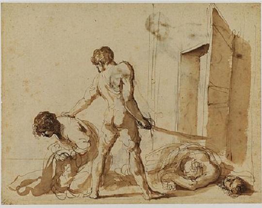 Guercino_-_Martirio_dei_Santi_Giovanni_e_Paolo