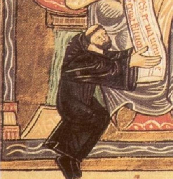 Odo of Cluny, 11th century miniature